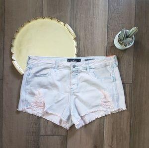 Hollister low rise boyfriend jean shorts 15 pink